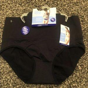 2 pairs of Jockey Slimming briefs (underwear)
